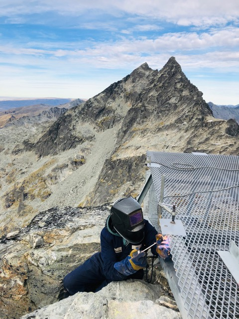 Site Welding at The Remarkables Shotover Engineering
